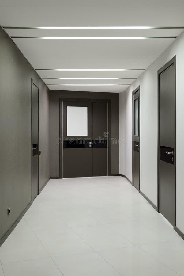 Corridor in office. Design of interior. Modern office stock image