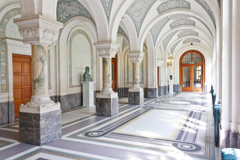 Corridor Of The Peace Palace, The Hague Stock Image