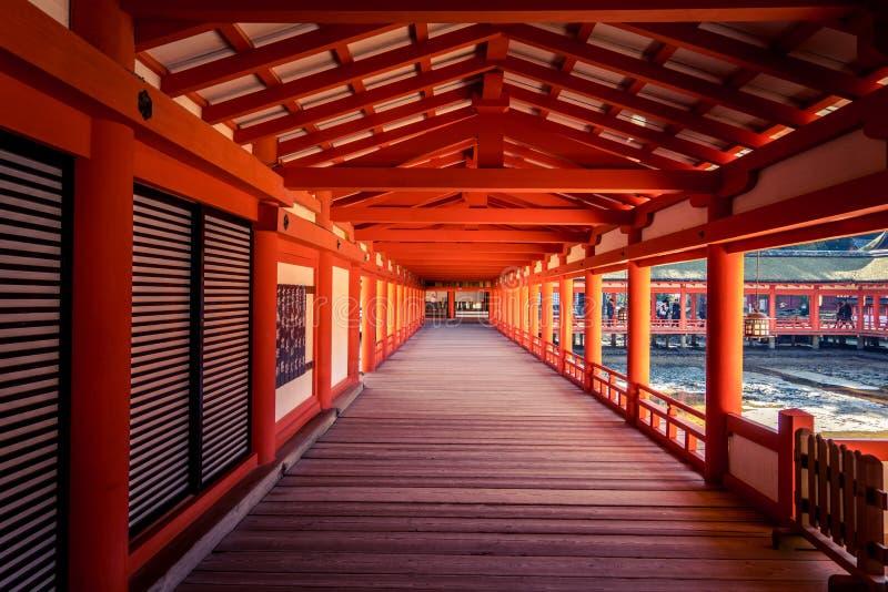 Corridor of shrine in Japan royalty free stock photography