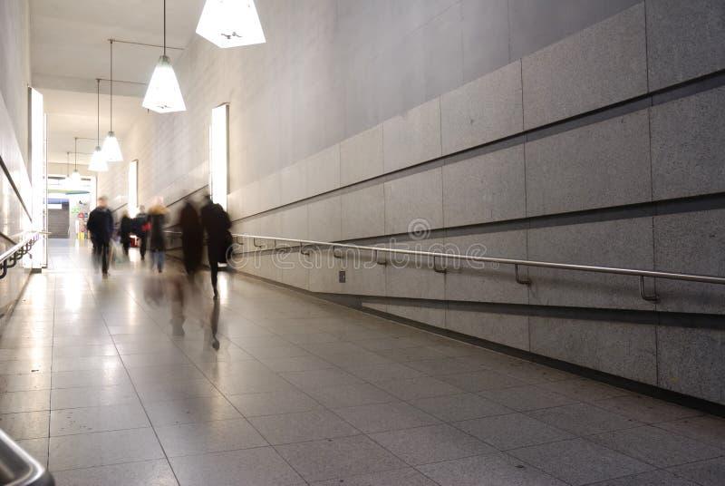 Corridor to subway royalty free stock image
