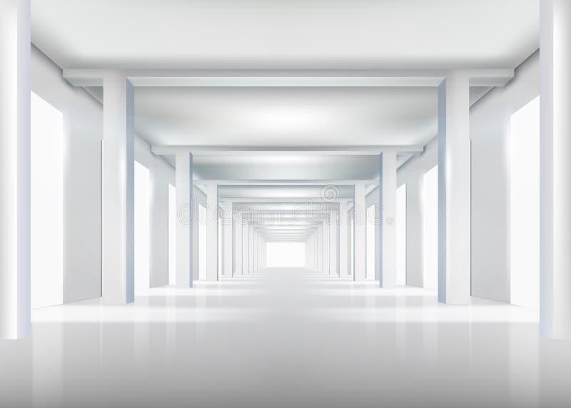 Corridor. Vector illustration. royalty free illustration