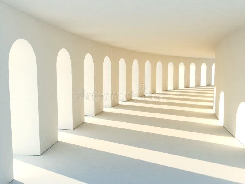 Download Corridor in warm tones stock illustration. Illustration of shadow - 18213802