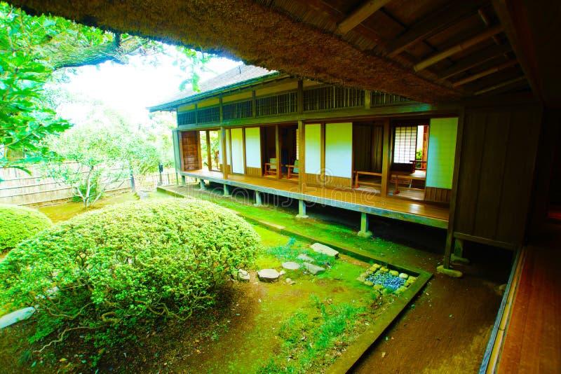 Corridor of the Yoshifumi bower. Shooting location : Mito, Ibaraki Prefecture royalty free stock photo