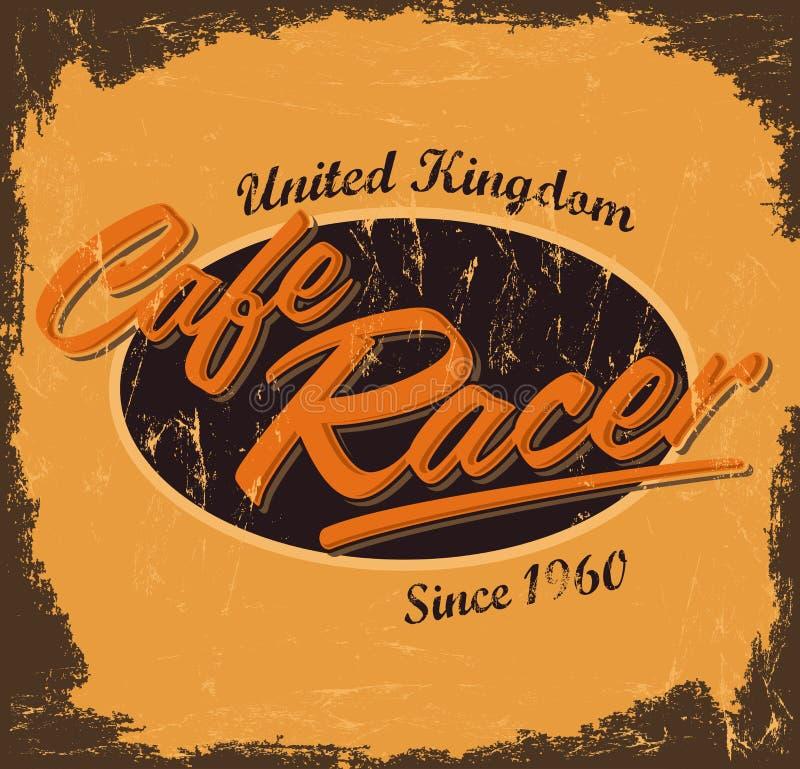 Corridore del caffè - progettazione d'annata illustrazione di stock
