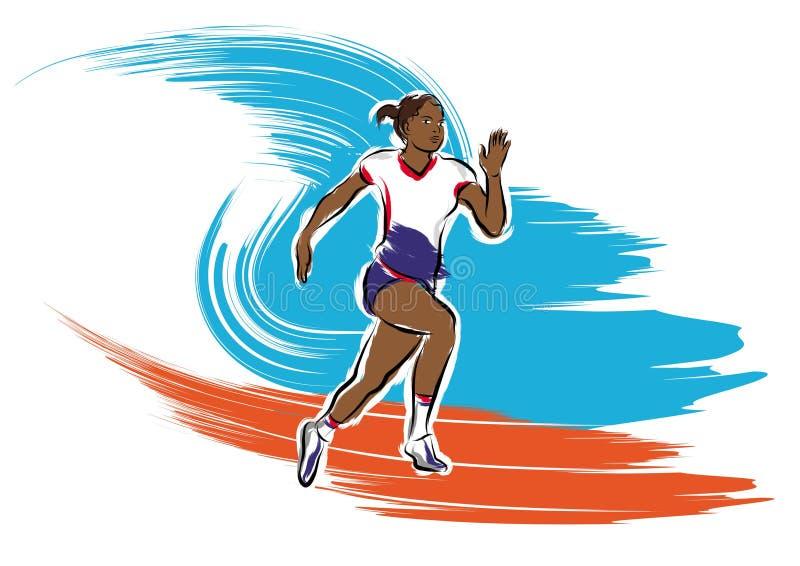 Corridore dell'atleta illustrazione di stock