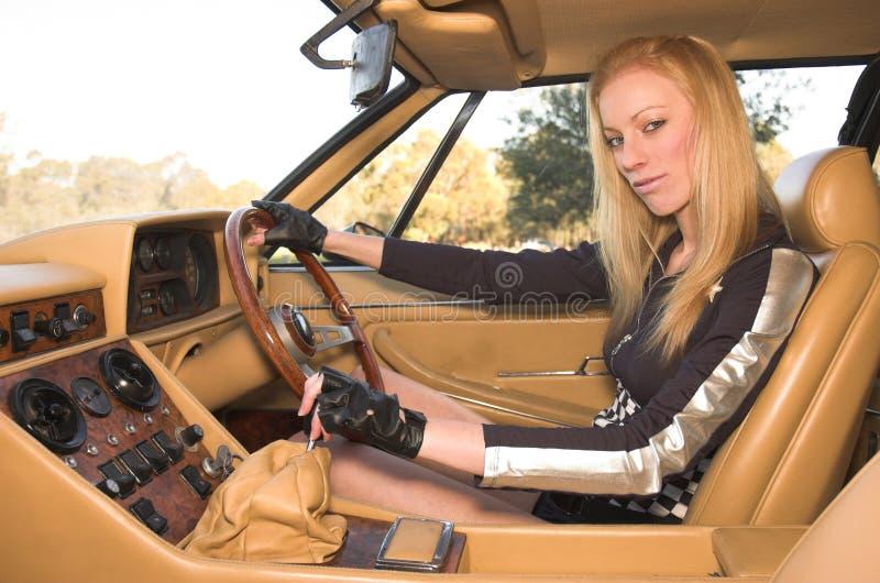 Corridore dell'automobile fotografia stock