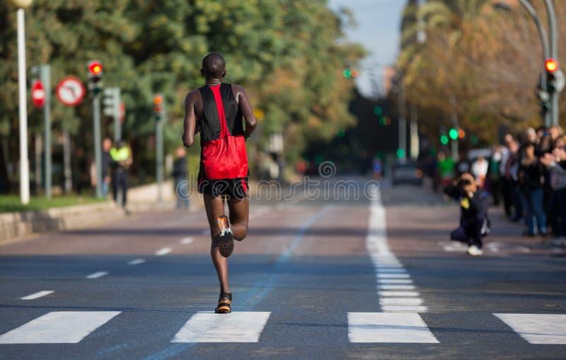 Corridore di maratona fotografie stock libere da diritti