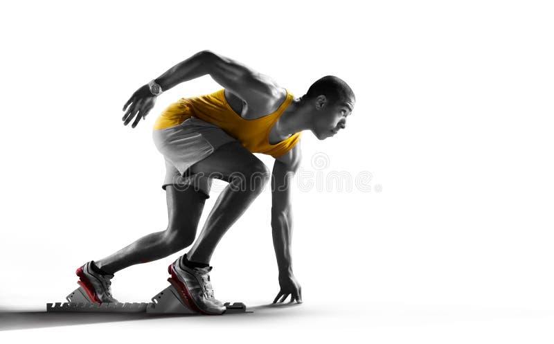 Corridore isolato dell'atleta fotografie stock