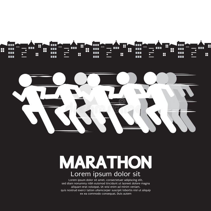 Corridore maratona royalty illustrazione gratis