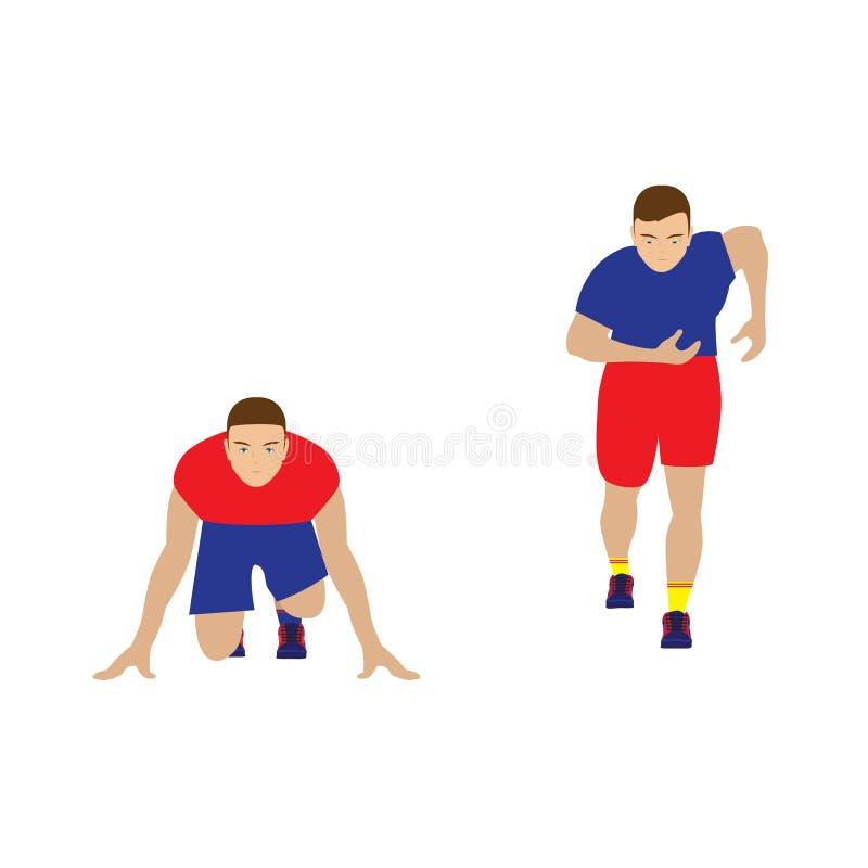 corridore sportsman illustrazione di stock