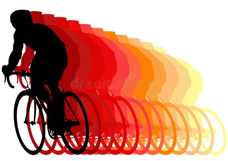Corridore su una bici royalty illustrazione gratis