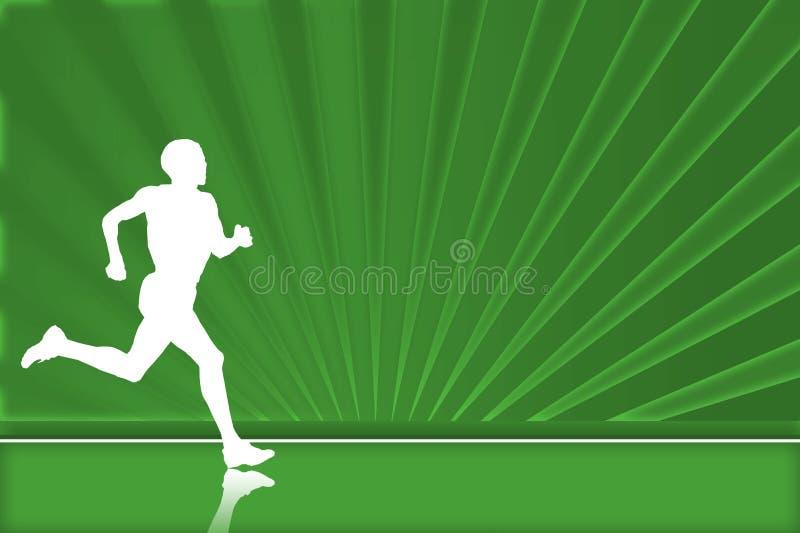 corridore verde illustrazione vettoriale