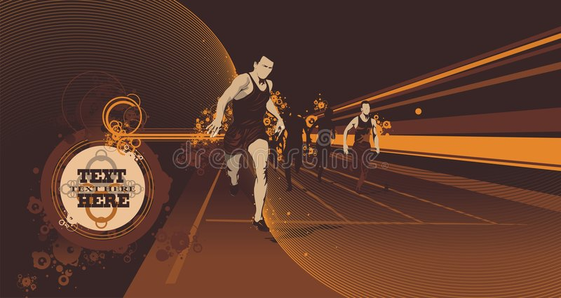 Corridori della pista di vettore illustrazione vettoriale