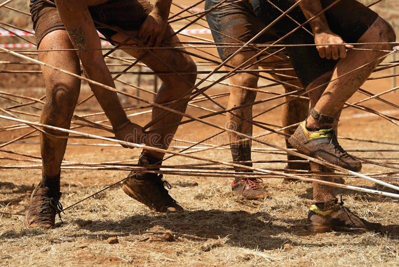 Corridori di corsa del fango immagini stock
