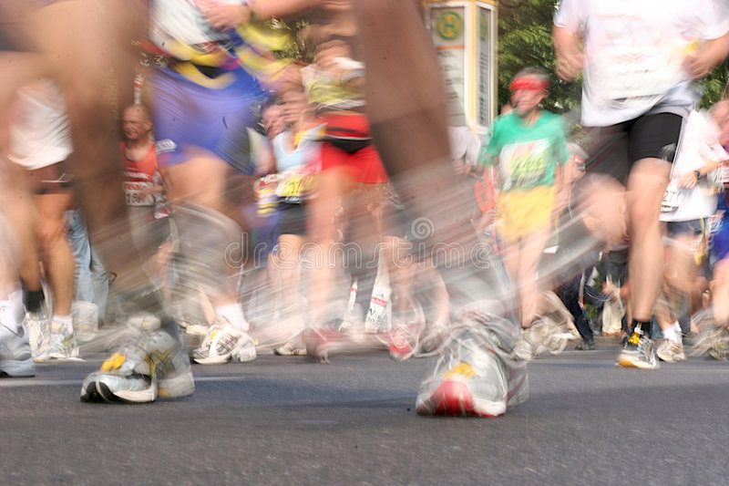 Corridori di maratona 2 fotografia stock libera da diritti