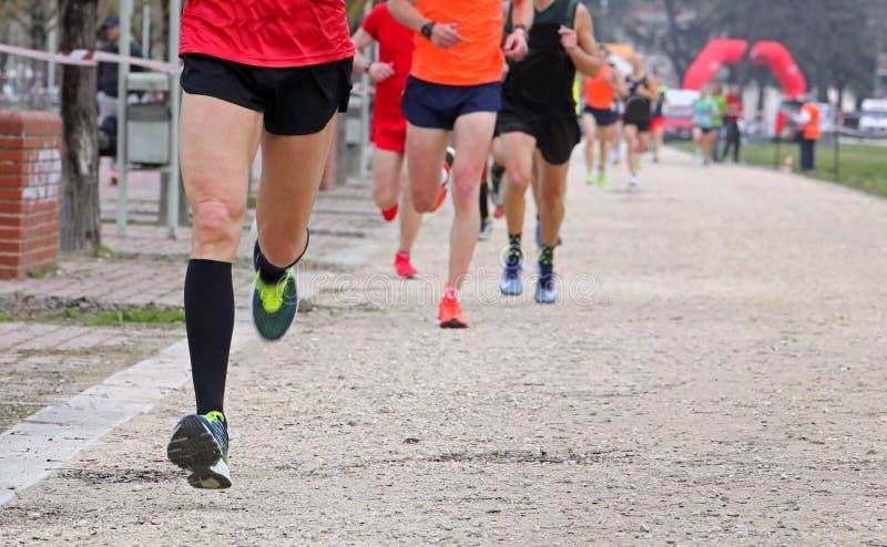 Corridori durante la corsa maratona fotografie stock libere da diritti