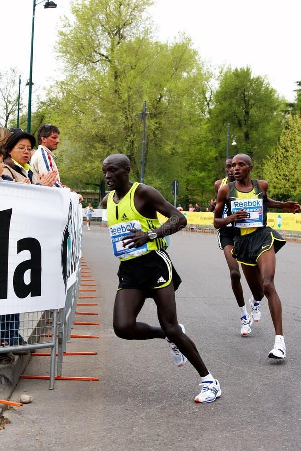 Corridori più importanti di maratona fotografia stock