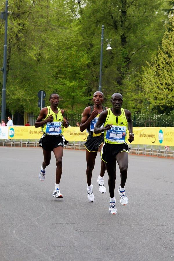 Corridori più importanti di maratona immagini stock libere da diritti