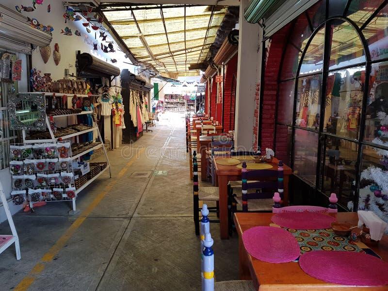 Handicraft Market La Ciudadela, Mexico city. Corridors full of handmade souvenirs for tourists stock photos