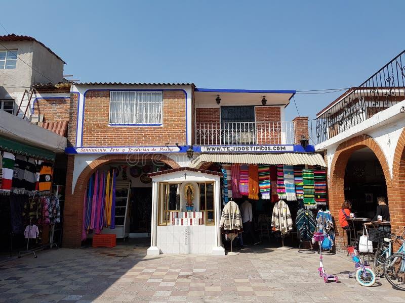 Handicraft Market La Ciudadela, Mexico city. Corridors full of handmade souvenirs for tourists royalty free stock image