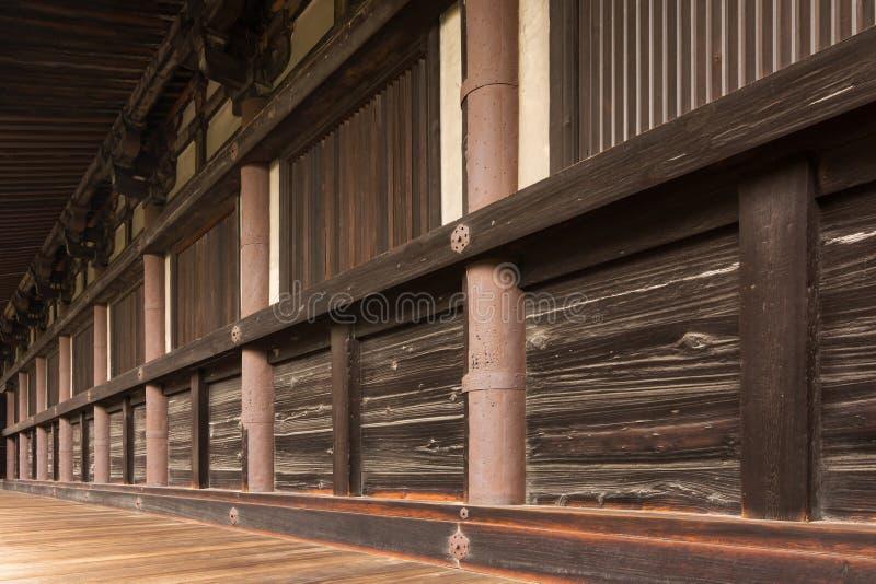 Corridors of Sanjusangendo. In Kyoto, Japan royalty free stock photography