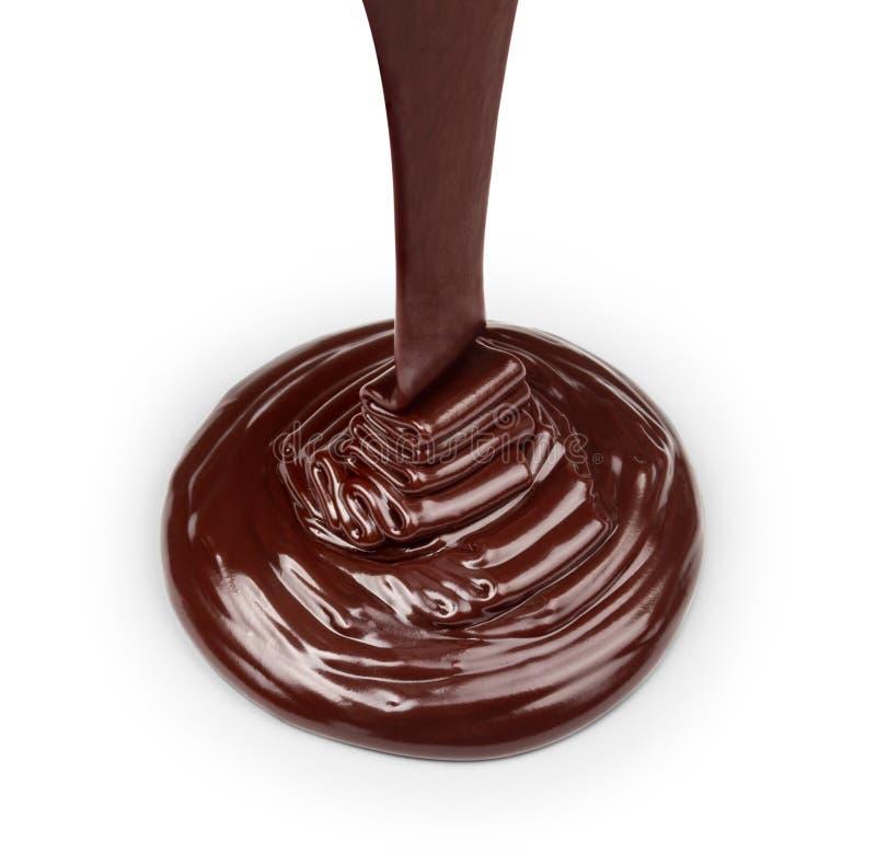 Corriente del chocolate oscuro fotos de archivo libres de regalías