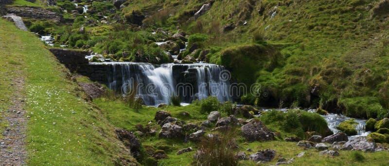 Corriente en los faros de Brecon fotos de archivo