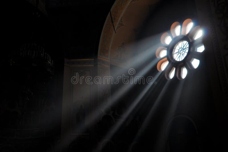Corriente ligera a través de la ventana foto de archivo