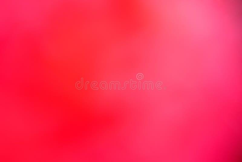 Corrientes ligeras a través del pétalo color de rosa Luz roja ilustración del vector