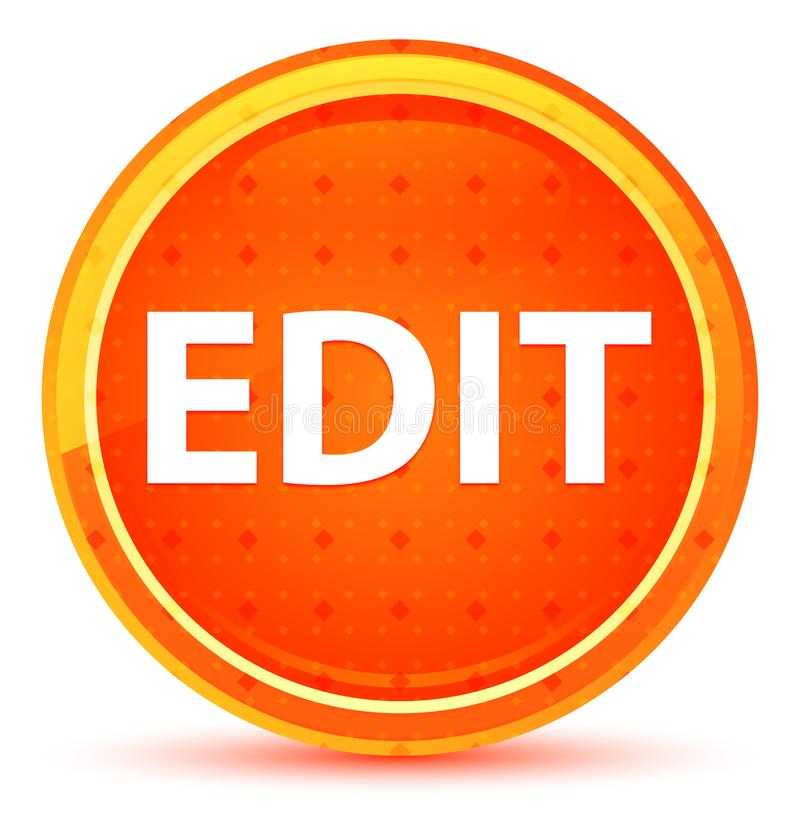 Corrija el botón redondo anaranjado natural libre illustration