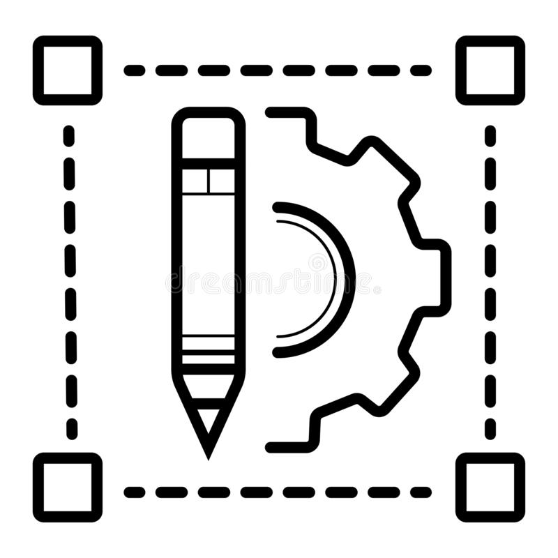 Corrija el vector del icono ilustración del vector
