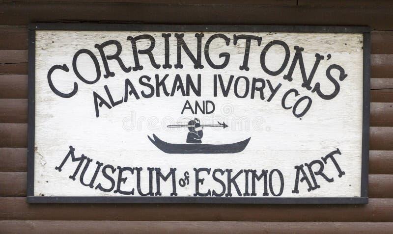 Corringtons alaskabo elfenben royaltyfria bilder