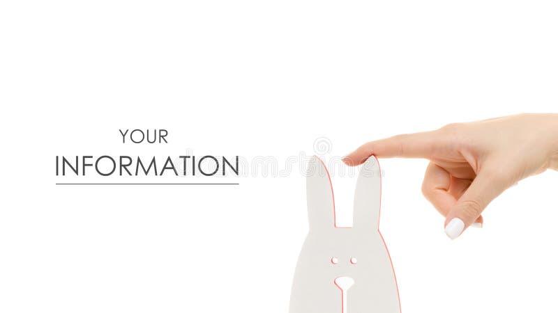 Corrisponda alle strutture della foto sotto forma di modello del coniglio fotografie stock
