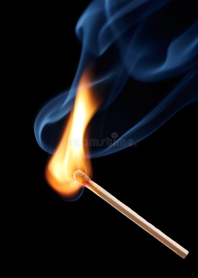 Corrispondenza Burning fotografie stock libere da diritti