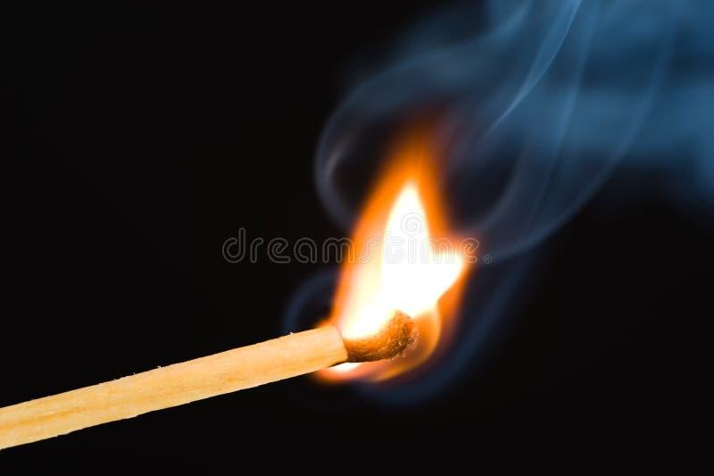 Corrispondenza Burning immagini stock libere da diritti