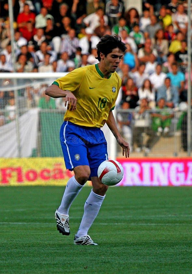 Corrispondenza di calcio amichevole Brasile contro l'Algeria immagine stock