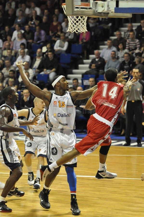 Corrispondenza di pallacanestro, pro A. immagine stock