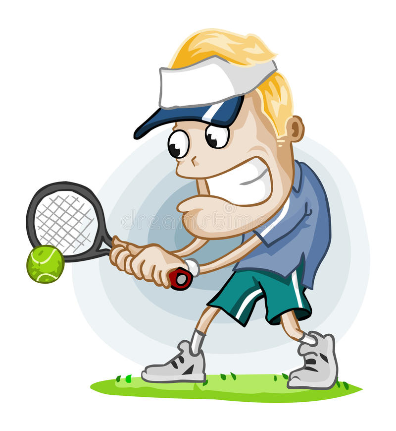 Corrispondenza di tennis illustrazione vettoriale