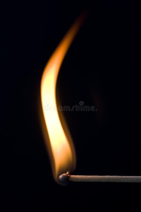Corrispondenza su fuoco immagine stock