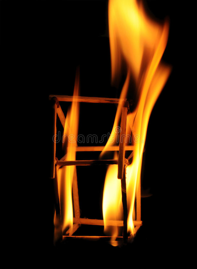 Corrispondenze Burning fotografia stock