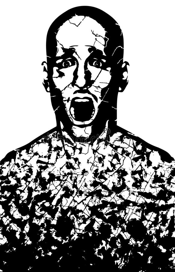 Download Corroded man stock vector. Image of smashed, angst, surprise - 19763839