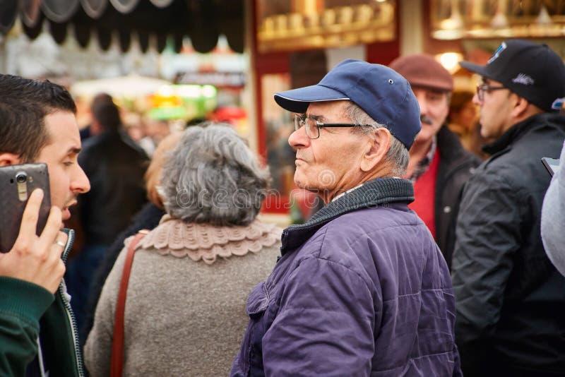 CORROIOS, SEIXAL,塞图巴尔,里斯本市区,葡萄牙- 2018年1月 Corroios巧克力市场  库存图片