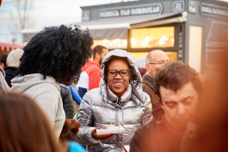 CORROIOS, SEIXAL,塞图巴尔,里斯本市区,葡萄牙- 2018年1月 Corroios巧克力市场  库存照片