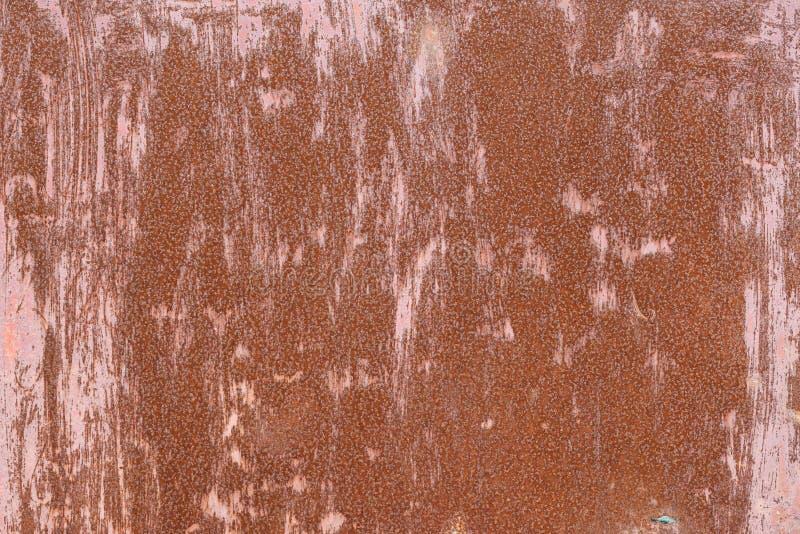 Corrosão do metal Textura oxidada velha da parede do metal fotografia de stock