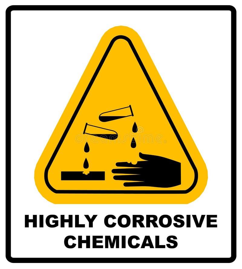 Corrosief teken Meer ondertekent in mijn portefeuille Het Teken van het gevaar royalty-vrije illustratie