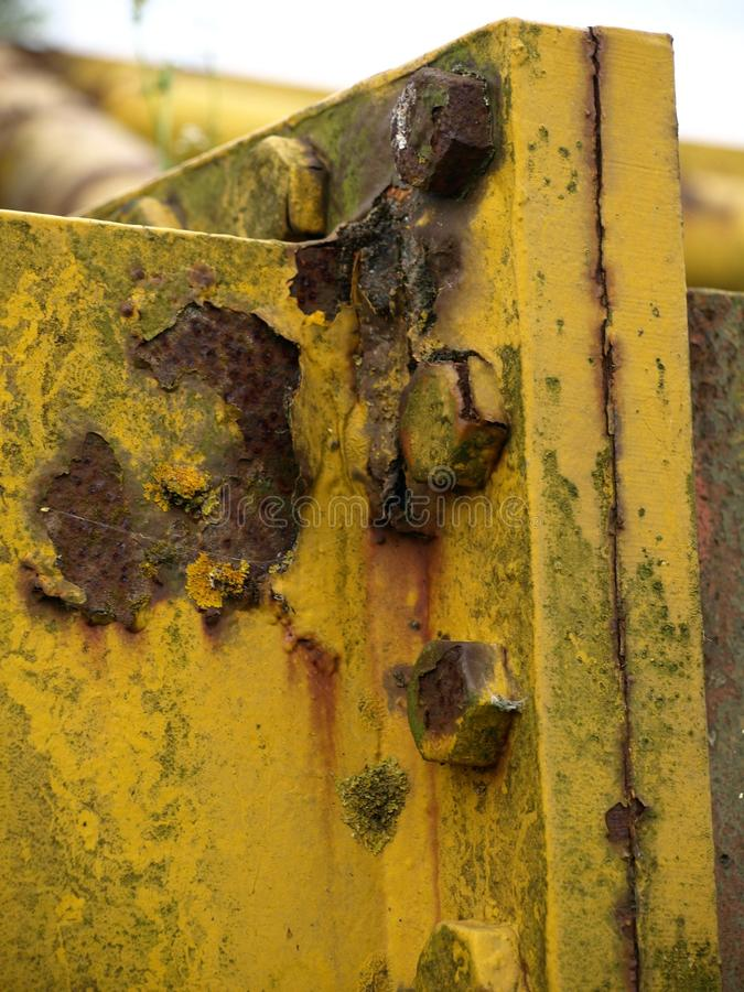 Corrosion. On metal royalty free stock photo