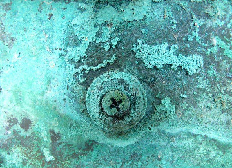 Corrosione di rame del metallo fotografia stock