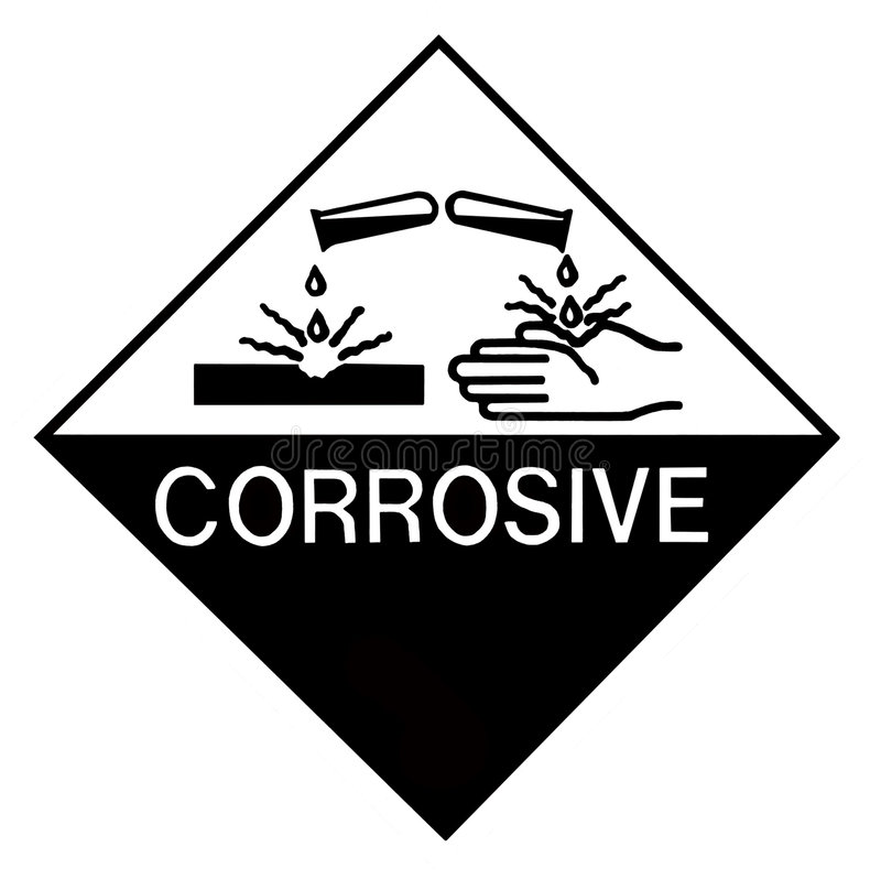 Free Corrosive Chemical Label Stock Photography - 4155802