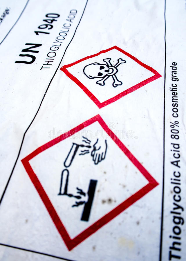 Corrosive Material Symbol At The Acid Container Stock Photo Image