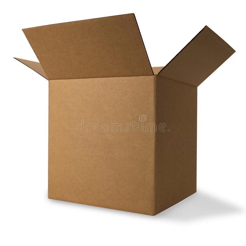 Free Corrugated Box With Path Royalty Free Stock Images - 15660979
